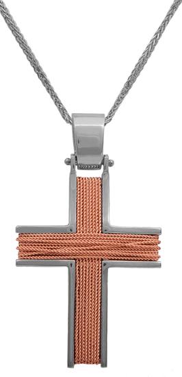 Σταυροί Βάπτισης - Αρραβώνα Χειροποίητος συρματερός σταυρός 14Κ 012161 Ανδρικό Χρυσός 14 Καράτια