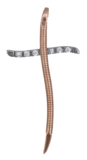 Σταυροί Βάπτισης - Αρραβώνα Ροζ χρυσός σταυρός 14Κ 012175 012175 Γυναικείο Χρυσό σταυροί βάπτισης   γάμου σταυροί βάπτισης   αρραβώνα