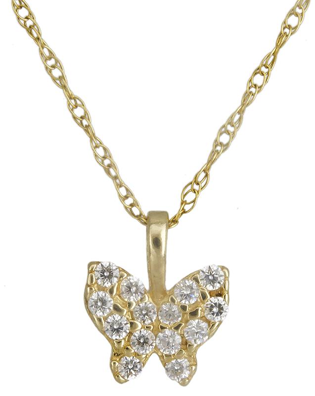 Χρυσό κολιέ πεταλούδα Κ14 012194 012194 Χρυσός 14 Καράτια