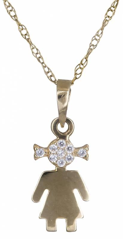Κολιέ χρυσό με πέτρες 14Κ 012196 012196 Χρυσός 14 Καράτια