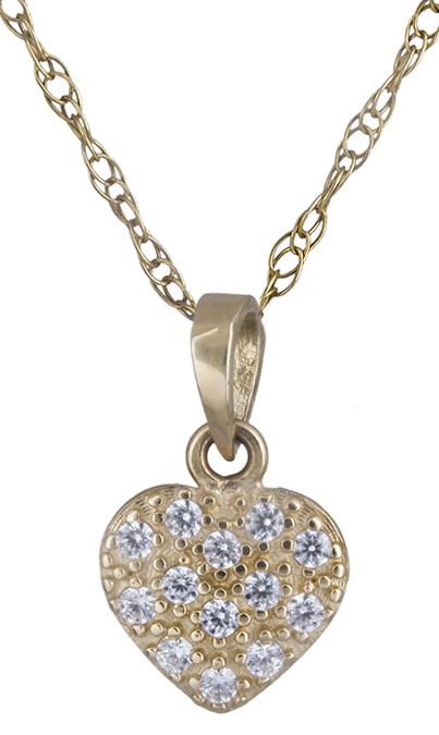 Κολιέ χρυσό με πετράτη καρδούλα 14Κ 012199 012199 Χρυσός 14 Καράτια