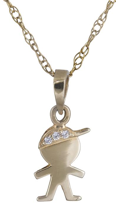 Κολιέ χρυσό 14Κ με αγοράκι 012202 012202 Χρυσός 14 Καράτια