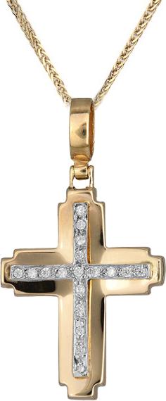 Βαπτιστικοί Σταυροί με Αλυσίδα Γυναικείος σταυρός C012279 012279C Γυναικείο Χρυσός 14 Καράτια