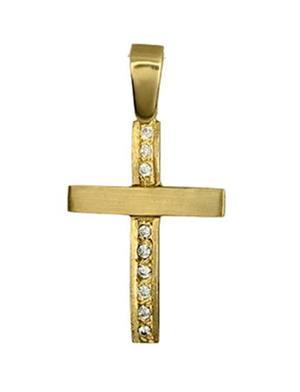 Γυναικείος σταυρός 012304 012304 Χρυσός 14 Καράτια χρυσά κοσμήματα σταυροί