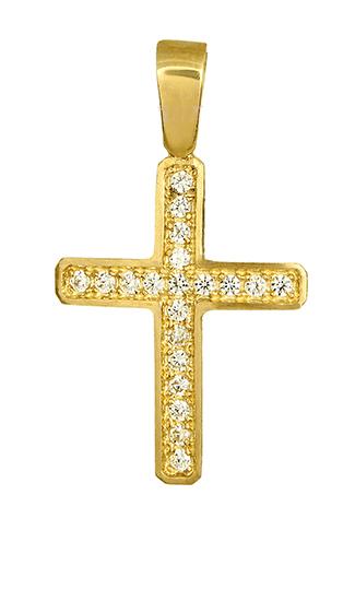 Γυναικείος σταυρός 012305 012305 Χρυσός 14 Καράτια