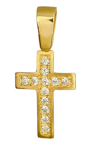 ΧΡΥΣΟΣ ΣΤΑΥΡΟΣ 012308 012308 Χρυσός 14 Καράτια χρυσά κοσμήματα σταυροί