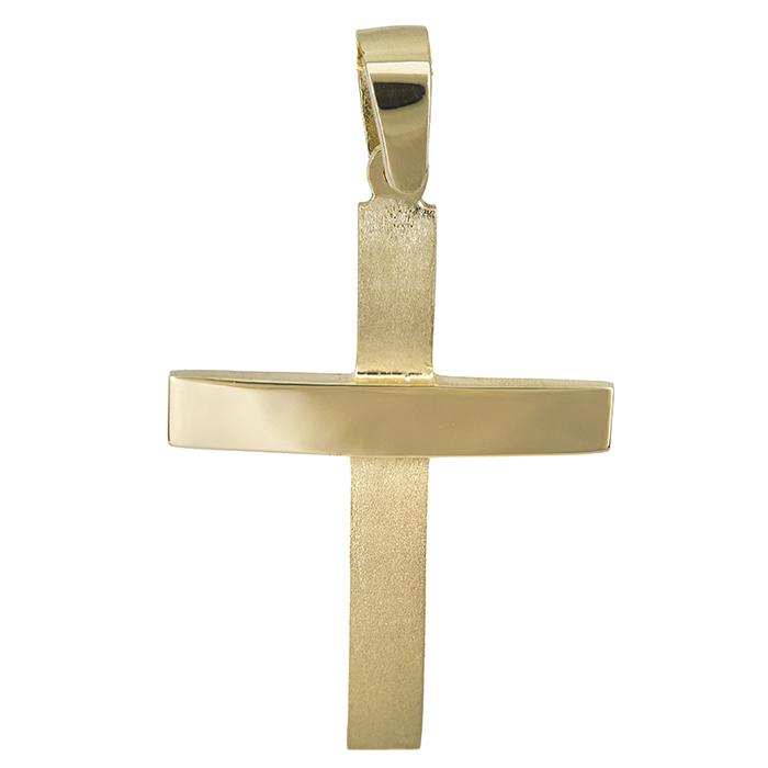 Χρυσός αντρικός σταυρός Κ14 012314 012314 Χρυσός 14 Καράτια