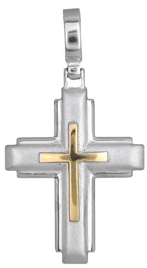 Σταυροί Βάπτισης - Αρραβώνα Ανδρικός σταυρός 012408 012408 Ανδρικό Χρυσός 14 Καράτια