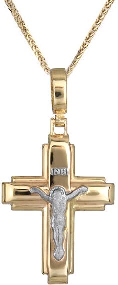 Βαπτιστικοί Σταυροί με Αλυσίδα Ανδρικός σταυρός με αλυσίδα C012410 012410C Ανδρικό Χρυσός 14 Καράτια