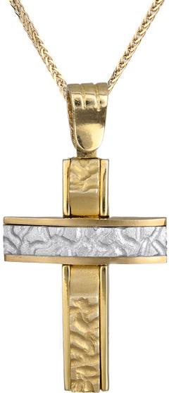 Βαπτιστικοί Σταυροί με Αλυσίδα Ανδρικός σταυρός με αλυσίδα C012423 012423C Ανδρικό Χρυσός 14 Καράτια