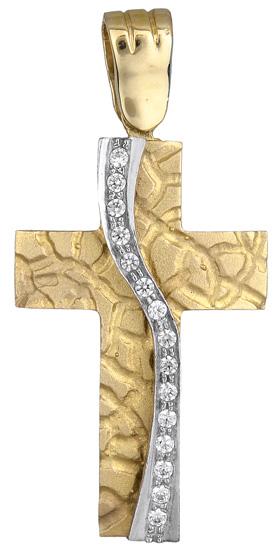 Σταυροί Βάπτισης - Αρραβώνα Γυναικείος σταυρός 012427 012427 Γυναικείο Χρυσός 14 Καράτια