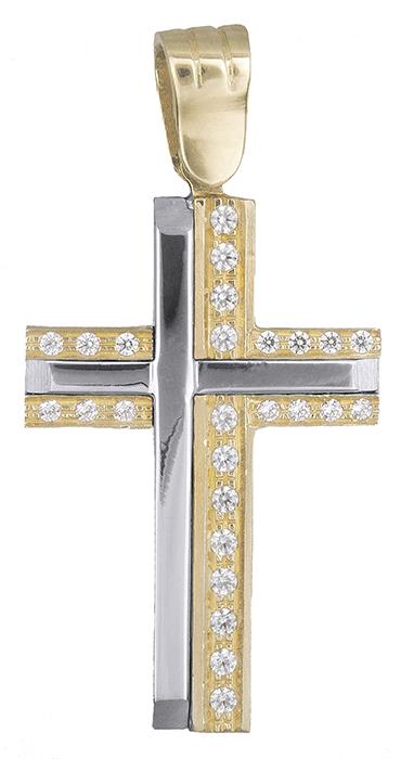 Σταυροί Βάπτισης - Αρραβώνα Γυναικείος σταυρός Κ14 012428 012428 Γυναικείο Χρυσός 14 Καράτια