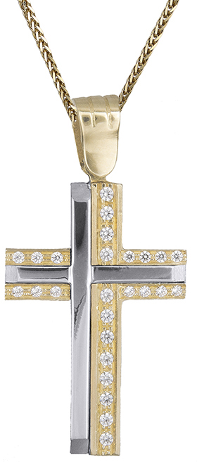 Βαπτιστικοί Σταυροί με Αλυσίδα Σταυρός με αλυσίδα 14Κ C012428 012428C Γυναικείο Χρυσός 14 Καράτια