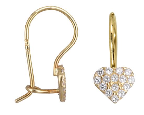 Χρυσά σκουλαρίκια Κ14 012436 012436 Χρυσός 14 Καράτια