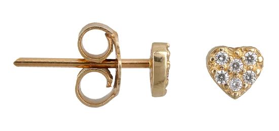 Χρυσά σκουλαρίκια καρδιά Κ14 012440 012440 Χρυσός 14 Καράτια