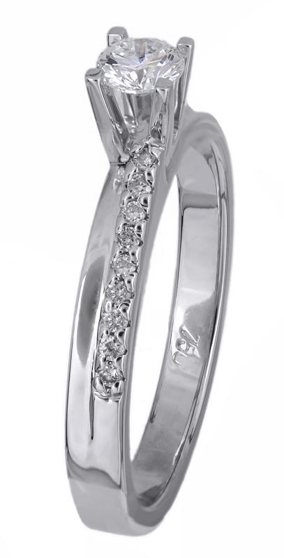 Μονόπετρο δαχτυλίδι λευκόχρυσο 18Κ με διαμάντια 021440 021440 Χρυσός 18 Καράτια χρυσά κοσμήματα δαχτυλίδια μονόπετρα