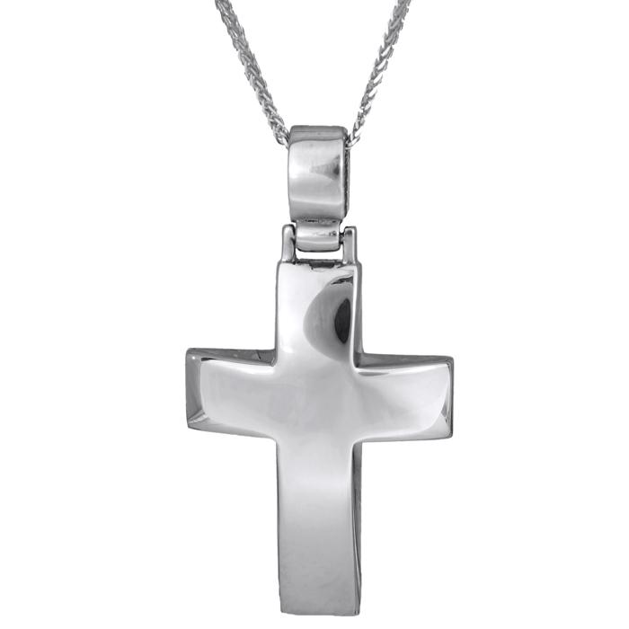 Βαπτιστικοί Σταυροί με Αλυσίδα Σταυρός Βάπτισης 012487C Ανδρικό Χρυσός 9 Καράτια
