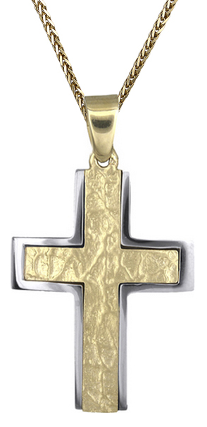 Βαπτιστικοί Σταυροί με Αλυσίδα Ανδρικός σταυρός Κ9 C012493 012493C Ανδρικό Χρυσός 9 Καράτια