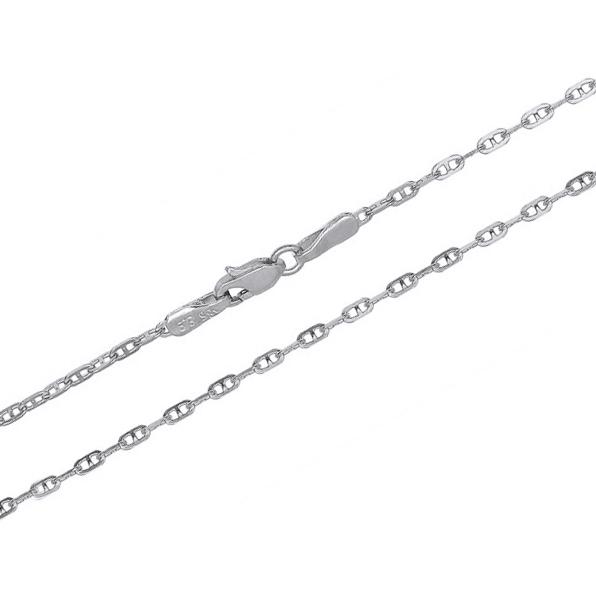 Λευκόχρυση αλυσίδα 9Κ 012517 Χρυσός 9 Καράτια
