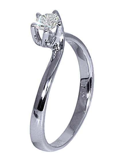 Λευκόχρυσο μονόπετρο δαχτυλίδι 18Κ με διαμάντι 012521 Χρυσός 18 Καράτια