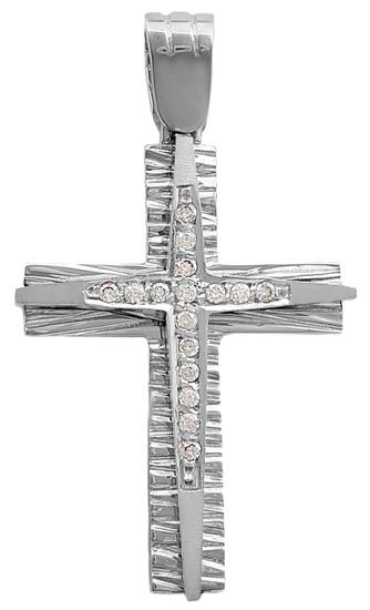 Σταυροί Βάπτισης - Αρραβώνα Λευκόχρυσος σταυρός 9Κ 012625 012625 Γυναικείο Χρυσός 9 Καράτια