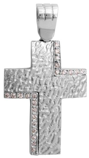 Σταυροί Βάπτισης - Αρραβώνα Λευκόχρυσος σταυρός 9Κ 012651 012651 Γυναικείο Χρυσός 9 Καράτια