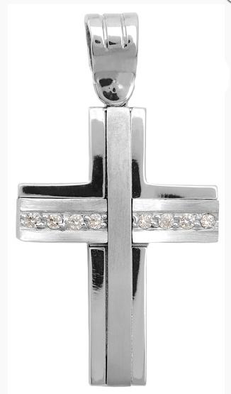 Σταυροί Βάπτισης - Αρραβώνα Διπλής όψης σταυρός 9Κ 012693 Γυναικείο Χρυσός 9 Καράτια