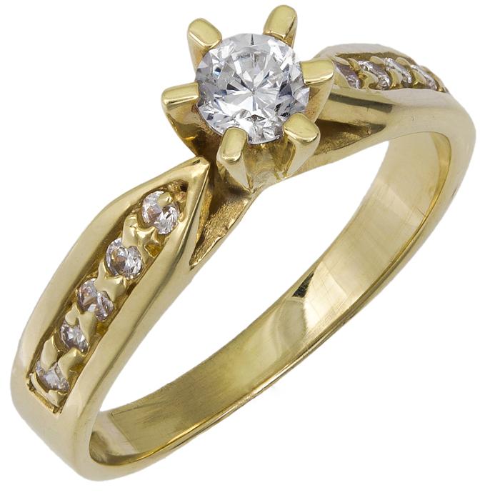 Χρυσό μονόπετρο δαχτυλίδι 9Κ 012710 Χρυσός 9 Καράτια χρυσά κοσμήματα δαχτυλίδια μονόπετρα