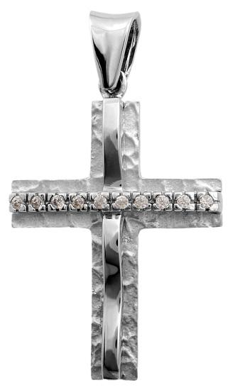 Σταυροί Βάπτισης - Αρραβώνα Σταυρός λευκόχρυσος 9K 012768 012768 Γυναικείο Χρυσός 9 Καράτια