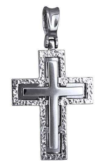 Σταυροί Βάπτισης - Αρραβώνα ΑΝΤΡΙΚΟΣ ΛΕΥΚΟΧΡΥΣΟΣ ΣΤΑΥΡΟΣ 14Κ 012781 012781 Ανδρικό Χρυσός 14 Καράτια