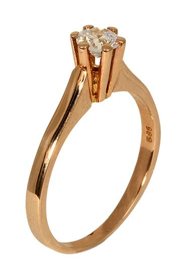 ΔΑΧΤΥΛΙΔΙΑ ΜΟΝΟΠΕΤΡΑ ONLINE 012805 Χρυσός 14 Καράτια