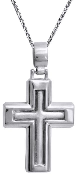 Βαπτιστικοί Σταυροί με Αλυσίδα Ανδρικός σταυρός Κ14 C012816 012816C Ανδρικό Χρυσός 14 Καράτια