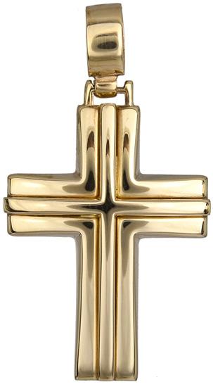 Σταυροί Βάπτισης - Αρραβώνα Χρυσός σταυρός 012821 012821 Ανδρικό Χρυσός 14 Καράτια