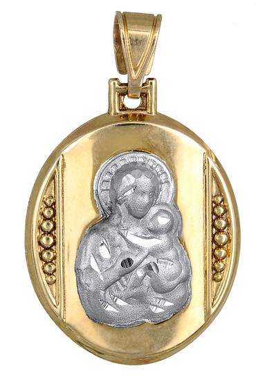 Φυλαχτό διπλής όψης για μωράκι Κ9 015080 015080 Χρυσός 9 Καράτια