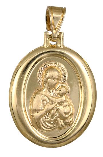 Χρυσό φυλαχτό με την Παναγία Κ14 012880 012880 Χρυσός 14 Καράτια