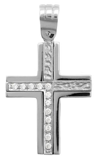 Σταυροί Βάπτισης - Αρραβώνα Διπλής όψης σταυρός 9Κ 012895 Γυναικείο Χρυσός 9 Καράτια