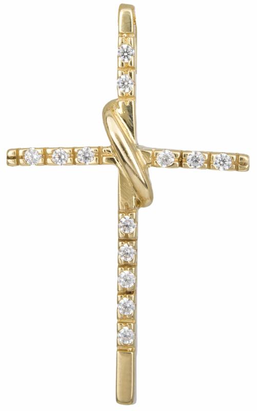 Γυναικείος σταυρός 14Κ 012916 012916 Χρυσός 14 Καράτια χρυσά κοσμήματα σταυροί