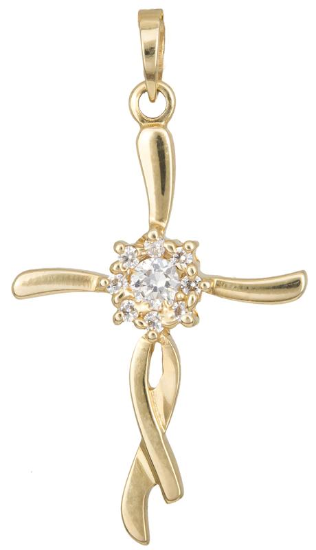 Σταυροί Βάπτισης - Αρραβώνα Γυναικείος σταυρός Κ14 012920 012920 Γυναικείο Χρυσός 14 Καράτια