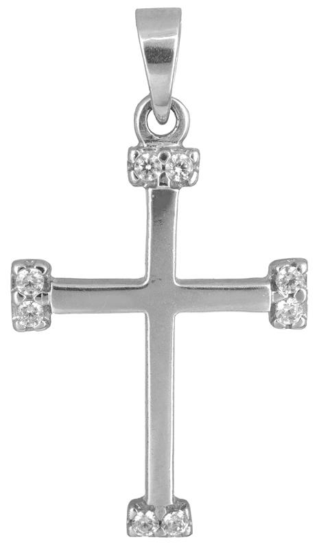 Γυναικείος λευκόχρυσος σταυρός Κ14 012923 012923 Χρυσός 14 Καράτια