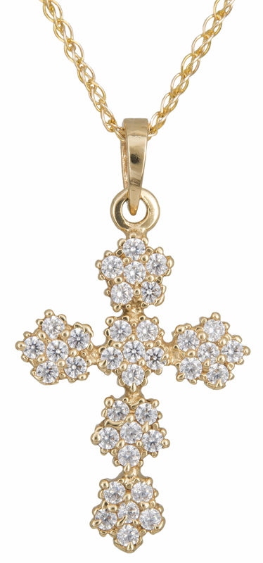 Βαπτιστικοί Σταυροί με Αλυσίδα Χρυσός σταυρός Κ14 C012929 012929C Γυναικείο Χρυσός 14 Καράτια