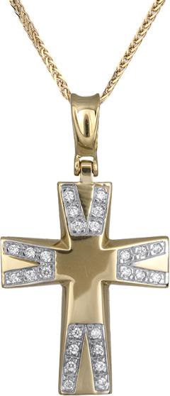 Βαπτιστικοί Σταυροί με Αλυσίδα Γυναικείοι σταυροί με αλυσίδα Κ14 C012947 012947C Γυναικείο Χρυσός 14 Καράτια