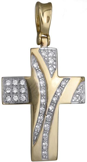 Σταυροί Βάπτισης - Αρραβώνα Σταυρός για κορίτσι 14Κ 012949 012949 Γυναικείο Χρυσός 14 Καράτια