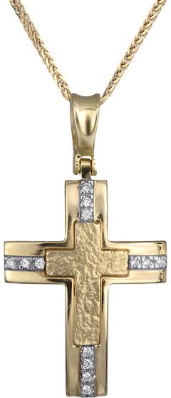Βαπτιστικοί Σταυροί με Αλυσίδα χρυσοί σταυροί γυναικείοι Κ14 C012952 012952C Γυν σταυροί βάπτισης   γάμου βαπτιστικοί σταυροί με αλυσίδα