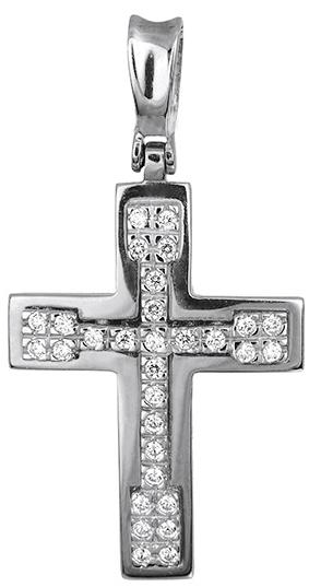 Σταυροί Βάπτισης - Αρραβώνα Γυναικείος σταυρός λευκόχρυσος 012955 012955 Γυναικείο Χρυσός 14 Καράτια