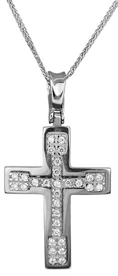 Βαπτιστικοί Σταυροί με Αλυσίδα Γυναικείοι σταυροί με αλυσίδα 14Κ C012955 012955C Γυναικείο Χρυσός 14 Καράτια