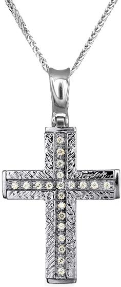 Βαπτιστικοί Σταυροί με Αλυσίδα Γυναικείοι σταυροί από λευκόχρυσο 14Κ C012958 012958C Γυναικείο Χρυσός 14 Καράτια