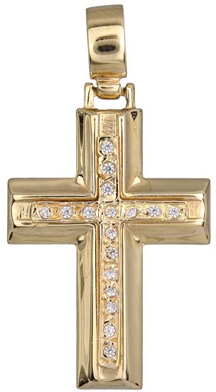 Σταυροί Βάπτισης - Αρραβώνα Γυναικείος σταυρός 012961 012961 Γυναικείο Χρυσός 14 Καράτια