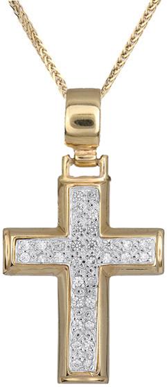 Βαπτιστικοί Σταυροί με Αλυσίδα Γυναικείος σταυρός C012963 012963C Γυναικείο Χρυσός 14 Καράτια