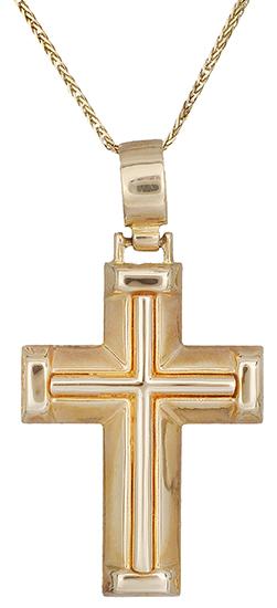 Βαπτιστικοί Σταυροί με Αλυσίδα Σταυρός βαπτιστικός για αγόρι 14Κ c012976 012976C σταυροί βάπτισης   γάμου βαπτιστικοί σταυροί με αλυσίδα
