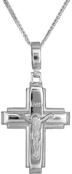 Βαπτιστικοί Σταυροί με Αλυσίδα Οικονομικός σταυρός C012977 012977C Ανδρικό Χρυσός 14 Καράτια